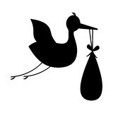 Baby delivery crane icon image Stock Photo