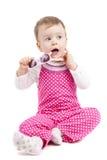 Baby der blauen Augen mit Sonnenbrille Stockfotografie