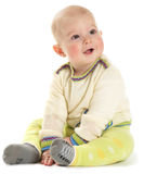 Baby in der Strickjacke Stockfoto
