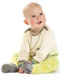 Baby in der Strickjacke Stockfoto