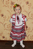 Baby in der ukrainischen nationalen Klage Lizenzfreie Stockfotografie