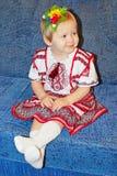 Baby in der ukrainischen nationalen Klage Stockbild