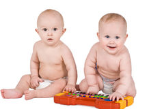 Baby des Portraits zwei Stockbild