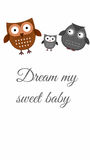 Baby design graphic. Painting for nursery room stock illustration