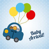 Baby design. Baby graphic design,vector illustration Stock Image