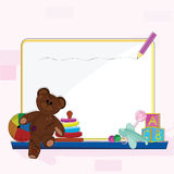 Baby designs background collection. S for baby themes and arrival Stock Photos