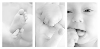 Baby details Stock Images