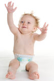 Baby in diaper Stock Photography