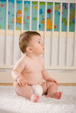 Baby in diaper Royalty Free Stock Photo