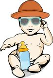 Sun and heat protection for babies Stock Photo