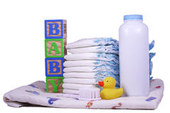 Baby Diapers stock photo