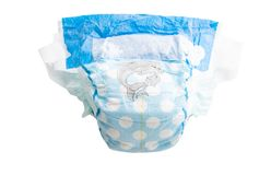 Baby diapers isolated. On white background royalty free stock photos