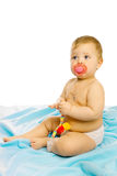 Baby in diapers Royalty Free Stock Photography