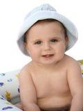 Baby die een bad neemt Royalty-vrije Stock Fotografie