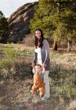 Baby die leert te lopen Royalty-vrije Stock Afbeelding