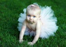 Baby die Roze horizontale Tutu draagt - royalty-vrije stock fotografie
