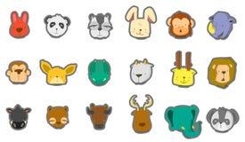Baby dierlijke hoofden Stock Foto