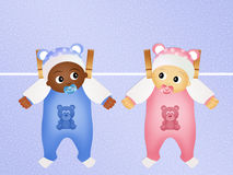 Baby on different races. Illustration of baby on different races Royalty Free Stock Image