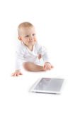 Baby with digital tablet Royalty Free Stock Images
