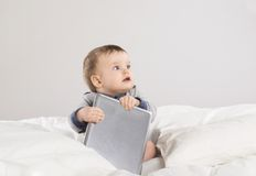 Baby with digital tablet Royalty Free Stock Image