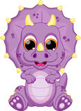 Baby dinosaur cartoon Stock Image