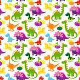 Baby dinosaurs pattern Royalty Free Stock Photo