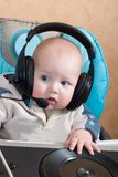 Baby DJ royalty free stock photos