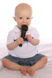 Baby DJ twee stock afbeeldingen