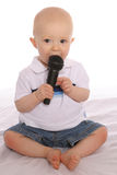 Baby DJ two. Baby singer two Stock Images