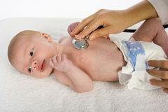 Baby and doctor Stock Photo