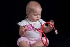 Baby doctor Stock Image