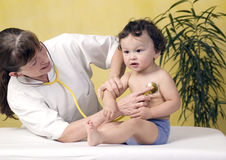 Baby at the doctor. Stock Photography