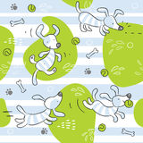 Baby dog background royalty free illustration