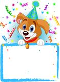 Baby Dog Birthday Stock Image