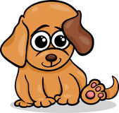 Baby dog puppy cartoon illustration Stock Images