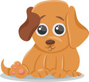 Baby dog puppy cartoon illustration Royalty Free Stock Photo