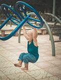 Baby doing exercises Royalty Free Stock Image