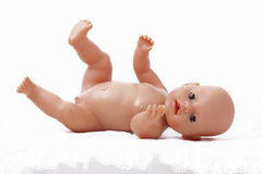 Baby Doll. On white background Royalty Free Stock Photo