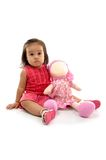 Baby and Doll Royalty Free Stock Photos