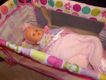Baby Doll Crib Stock Photography