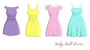 Baby doll dresses Royalty Free Stock Images