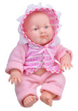 Baby doll in pink clothes Stock Images