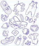 Baby doodles. Set,  illustration Stock Photos
