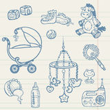 Baby doodles - Hand drawn collection Stock Image