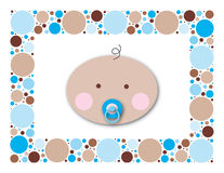 Baby Dots Boy. Perfect image for baby shower invitations, or a sale flyer for baby items Royalty Free Stock Photo