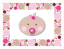 Baby Dots Girl. Perfect image for baby shower invitations, or a sale flyer for baby items Royalty Free Stock Image