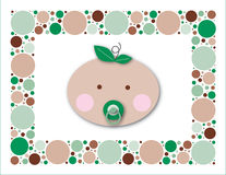 Baby Dots Sprout. Perfect image for baby shower invitations, or a sale flyer for baby items. Use to promote recycling, natural children's items, or other green Royalty Free Stock Images