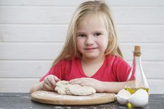 Baby dough. Cook... development of the child. stock images
