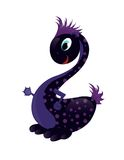Baby Dragon. A Cute black Baby Dragon as symbol 2012 Stock Illustration