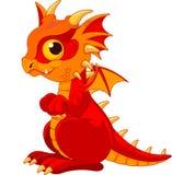 Baby dragon. Illustration of cute cartoon baby dragon Royalty Free Stock Photo